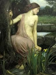 john william waterhouse echo and narcissus 1903 detail