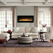 black fireplace mantel shelves stone surround electric insert