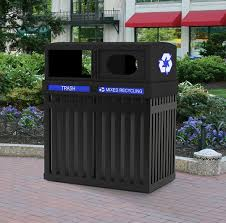 archtec parkview double trash and recycle bin an upscale sophisticated outdoor trash receptacle
