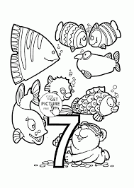 Number 7 Coloring Pages For Preschoolers Counting Numbers