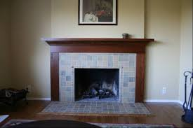Fireplace Refaced with Craftsman-like Tile | Fireplace-Remodel.com ...