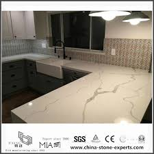 diy prefab white calacatta quartz kitchen countertops yqw qc0629014