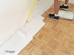 painting a hardwood floor
