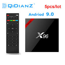 5pcs a lot X96 S905W Android 9.0 TV Box Amlogic S905W Quad Core New X96  Mini PC 2.4G Wifi 4K 2GB Streaming Media box|Set-top Boxes