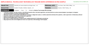 Blank Nuclear Medicine Technologist Resume Example Template