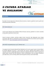 e-fatura ayarlar ve kullanımı - PDF Free Download