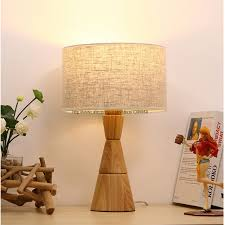 modern country style cone wood bedroom table lamp living room restaurant wooden table light lighting