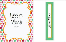 free lesson plan binder cover spine label from therealteachr blo com