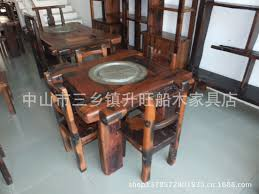 chinese classical solid wood furniture and old wooden boat small tea table kung fu tea tables living