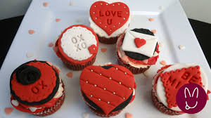 Valentine Fondant Decorations Cupcakes Bunnyluscious Youtube