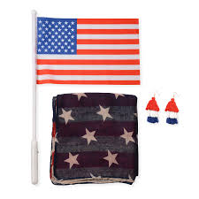 american flag pattern 100 polyester vest with matching faux leather zipper 3 compartment wallet 7 5x 5x4 in lc