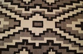 Navajo Pattern Stunning Historic Two Grey Hills Storm Pattern Variant Navajo Rug Weaving For