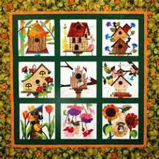 Free Birdhouse Quilt Patterns | made this for my daughter and ... & Love the birdhouses quilt Adamdwight.com