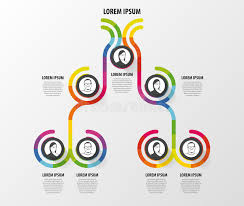 Organizational Chart Designs Organization Chart With Trophy Infographic Design Template