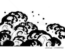 筆波白黒のイラスト素材 15088468 Pixta