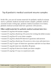 medical assistant pediatrics salary top 8 pediatric medical assistant resume samples 1 638 jpg cb 1431474667