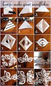 How To Make A 3d Snowflake How To Make Giant Paper Snowflakes Step By Step Photo