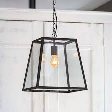 inko glass lantern pendant light