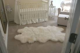 sheepskin rug baby room
