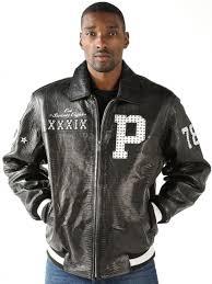 letterman jacket black iguana