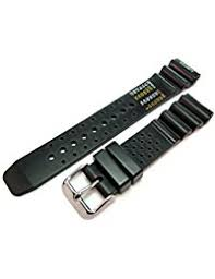 amazon co uk rubber watch straps men watches nd limits black rubber resin divers watch strap band 22mm