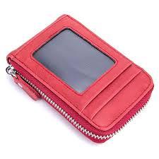 cow leather credit card holder men anti theft organizer travel passport purse business card holder women