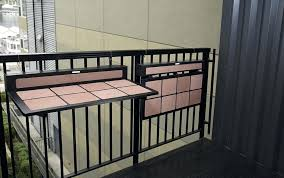 deck rail tables balcony rail table deck railing table diy