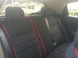vwvortex com full set wet okole seat covers for gti r32 black w red piping