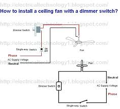 how to install a ceiling fan with light dimmer lovely switch normal and wiring