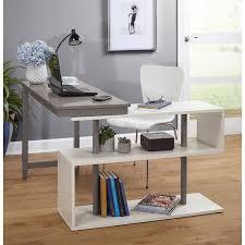simple living webster white grey wood swing desk