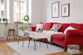 amazing living room red sofa