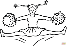 Great Cheerleader Coloring Page Free Printable Pages For