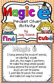 Magic E A Pocket Chart Activity Long Vowels Silent E
