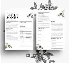 2 Page Resume Template Word 10000 page CV Template 100 page Cover Letter Word PSD 89