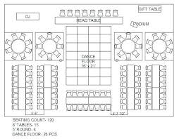 Wedding Seating Chart Template 8 Per Table Example 944