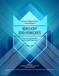 Uky Graphic Design Pdf Domestic Violence Fatality Special Report Kentucky