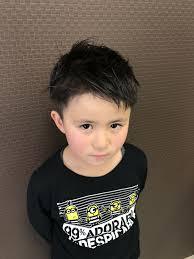 子供カット 男の子 ツーブロ前髪プチアシメ Kidscut