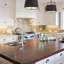 backsplash for butcher block counter art and craft style kitchens with top white ceramic counters