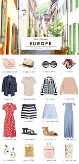 Packing List For Summer Vacation Heres Your Ultimate Packing List For Europe Packing Lists