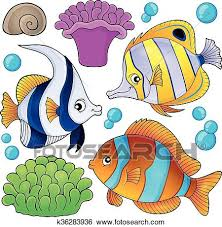coral reef fish drawing. Beautiful Fish Clip Art  Coral Reef Fish Theme Collection 3 Fotosearch Search Clipart  Illustration Inside Reef Fish Drawing R