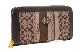 Coach Legacy Accordion Zip In Signature Large Navy Khaki Wallets Egn  Exterior