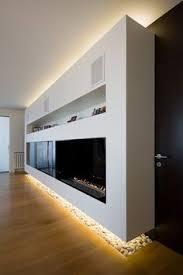 Concealed lighting ideas Living Room Modern Apartment In Moscow By Alexey Nikolashina Awesome Apartment Interior With Hidden Lighting Modern Fireplace Stockena 55 Best Concealed Lights Interiorssolutions Images