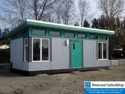 prefab shed office. Modern, Sales Office, Modular Building, Prefab Shed Kit, Hardie Board, Corrugated, Clerestory WIndows, Roof, Contemporary, Office