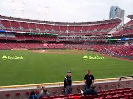Michigan Stadium Seating Chart Row Numbers Great American Ball Park Seating Chart Map Seatgeek