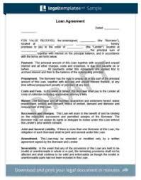 Free Loan Agreement Create a Loan Agreement Legal Templates 81