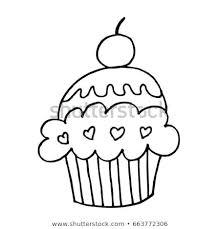 Sketch Of Birthday Cake Birthday Cake Doodle Sketch Birthday Cake