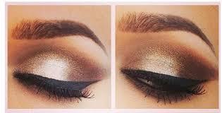 brown eyeshadow and dark black maa