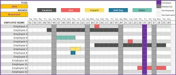 Attendance Tracking Template Inspiration Employee Vacation Tracker To Track Leave Attendance Excel Template