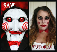 saw puppet billy the doll makeup tutorial