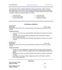 Professional Resume Font Free Resume Templates 2018
